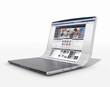 Rolltop laptop enroulable